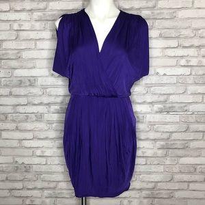 Black Halo dark purple Jill dress, size small